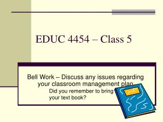 EDUC 4454   Class 5