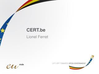 CERT.be