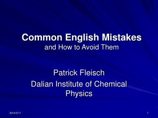 Common English Mistakes and How to Avoid Them