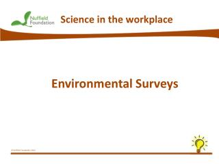 Environmental Surveys