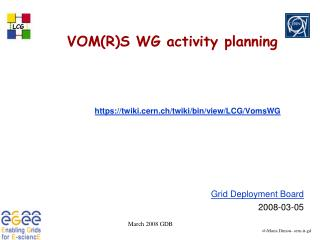 VOM(R)S  WG activity planning
