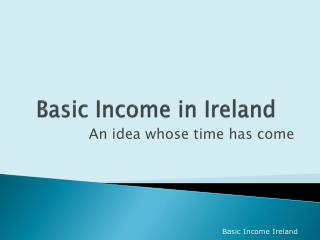 Basic Income in Ireland