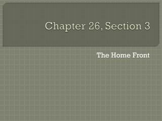 Chapter 26, Section 3