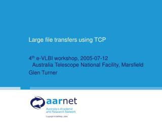 Large file transfers using TCP