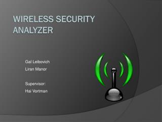 Wireless  Security  Analyzer