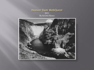 Hoover Dam WebQuest