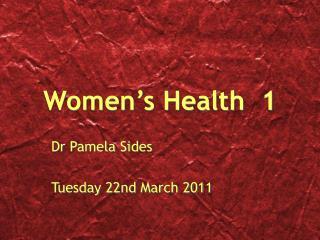 Women s Health  1