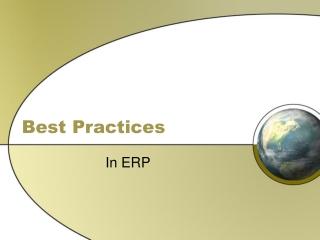 Logistics Planning SAP Best Practices Baseline Package