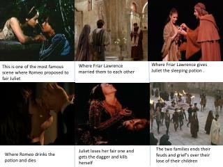 This is one of the most famous scene where Romeo proposed to fair Juliet