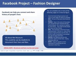 Facebook  Project – Fashion  Designer