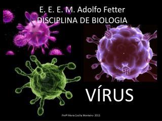 E. E. E. M. Adolfo  Fetter DISCIPLINA DE BIOLOGIA