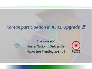 Korean  participation  in ALICE Upgrade  Ⅱ