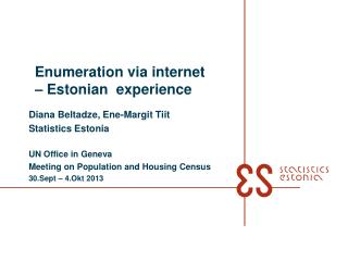 Enumeration via internet � Estonian  experience