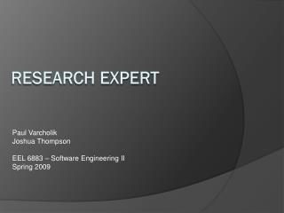 Research ExperT