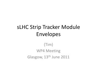sLHC  Strip Tracker Module Envelopes