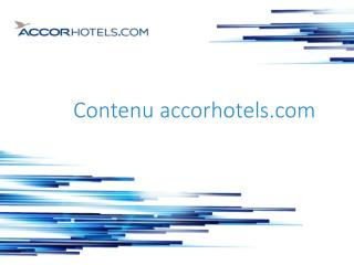Contenu  accorhotels