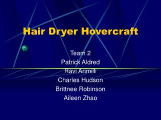 Hair Dryer Hovercraft