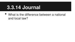 3.3.14 Journal