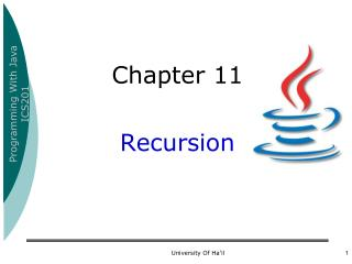 Chapter 11  Recursion