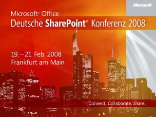 Interoperabilit t zwischen  SharePoint 2007 und SAP Anwendungen