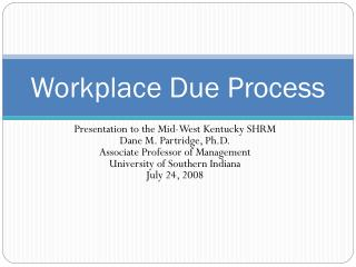 Workplace Due Process