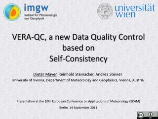 VERA-QC, a new Data Quality Control based on  Self-Consistency