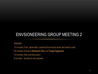 Envsioneering  Group Meeting 2