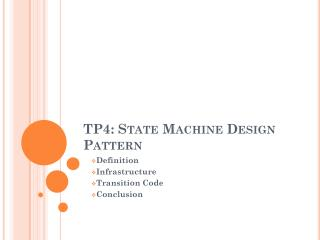 TP4:  State Machine Design Pattern