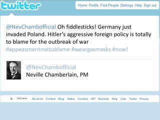 @ NevChambofficial Neville Chamberlain, PM