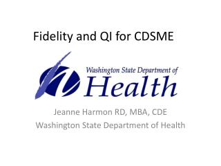 Fidelity and QI for CDSME