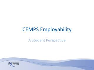 CEMPS Employability