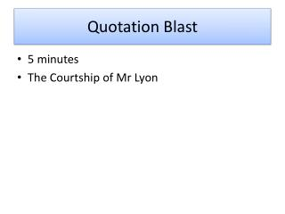 Quotation Blast
