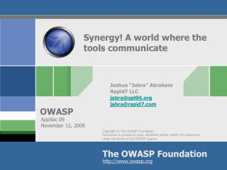 Synergy! A world where the tools communicate