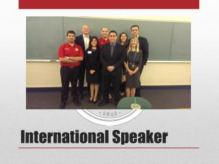 International Speaker