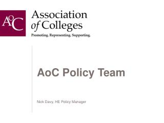 AoC Policy Team