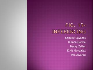 Fig. 19-Inferencing
