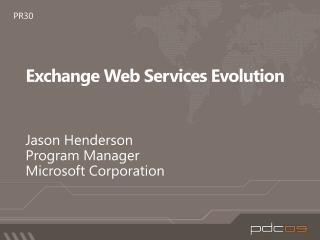 Exchange Web Services Evolution