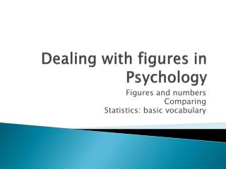 Dealing with figures in  Psychology