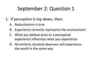September 2: Question 1