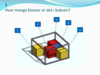 1 Hvor mange klosser er det i boksen?