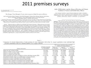 2011 premises surveys