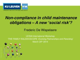 Non-compliance in child maintenance obligations – A new 'social risk'?
