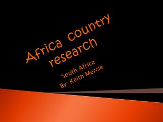 Africa  country  research