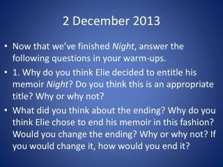 2 December 2013