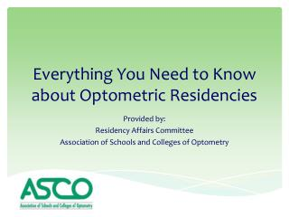 Everything You Need to Know about Optometric Residencies
