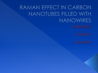 RAMAN EFFECT IN CARBON NANOTUBES FILLED WITH  NANOWIRES