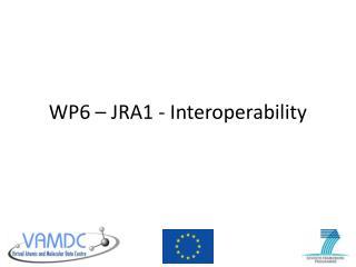WP6 � JRA1 - Interoperability
