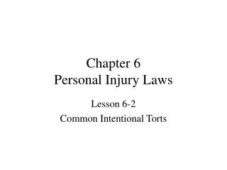 Chapter 6 Personal Injury Laws