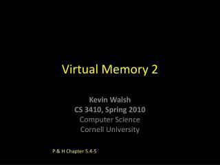 Virtual Memory 2
