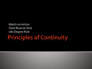 Principles of Continuity